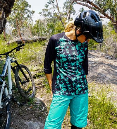 DHaRCO MTB | Ladies 3/4 Sleeve Jersey Aqua Party | Front