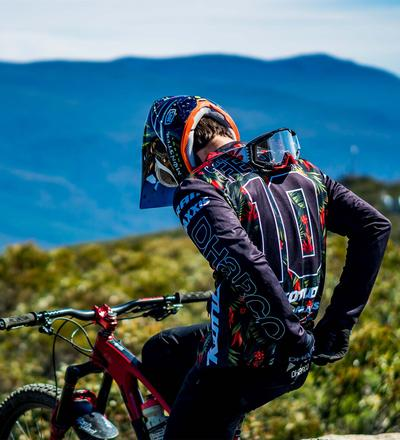 DHaRCO MTB | Mens LS Jersey Gravity Tropical | Back