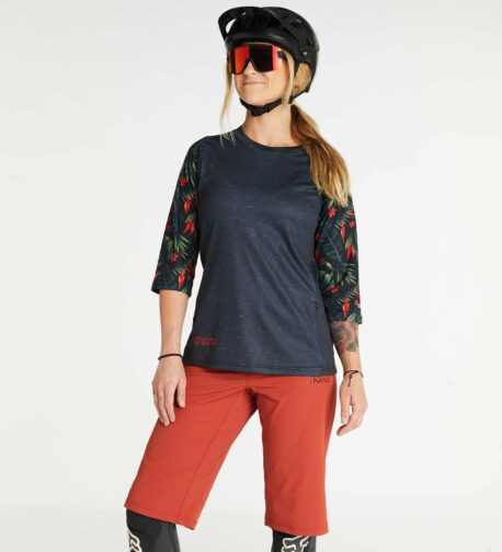 DHaRCO MTB   LADIES 3/4 SLEEVE JERSEY   TROPICAL   Front