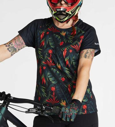 DHaRCO MTB | LADIES SS JERSEY | Tropical | Front