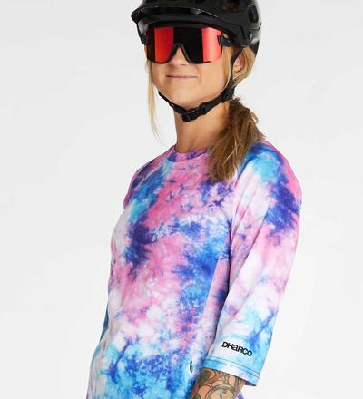 DHaRCO MTB | LADIES SS JERSEY | Tie Dye | Front